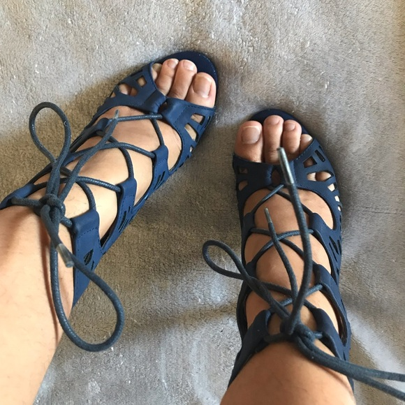 1489559cf257 Charlotte Russe Shoes - Blue Lace up